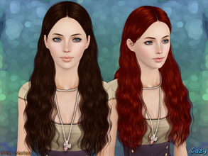 Sims 3 — Marion Hairstyle - T-E by Cazy — Female hairstyle for Teen through Elder. LODs, Thumbnail included.