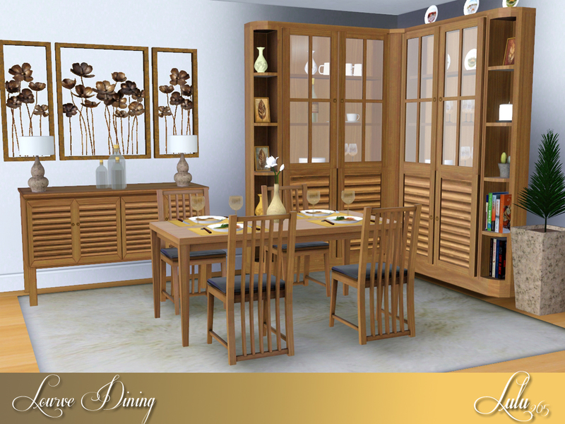 Lulu265 39 s lourve dining for Sims 3 dining room ideas