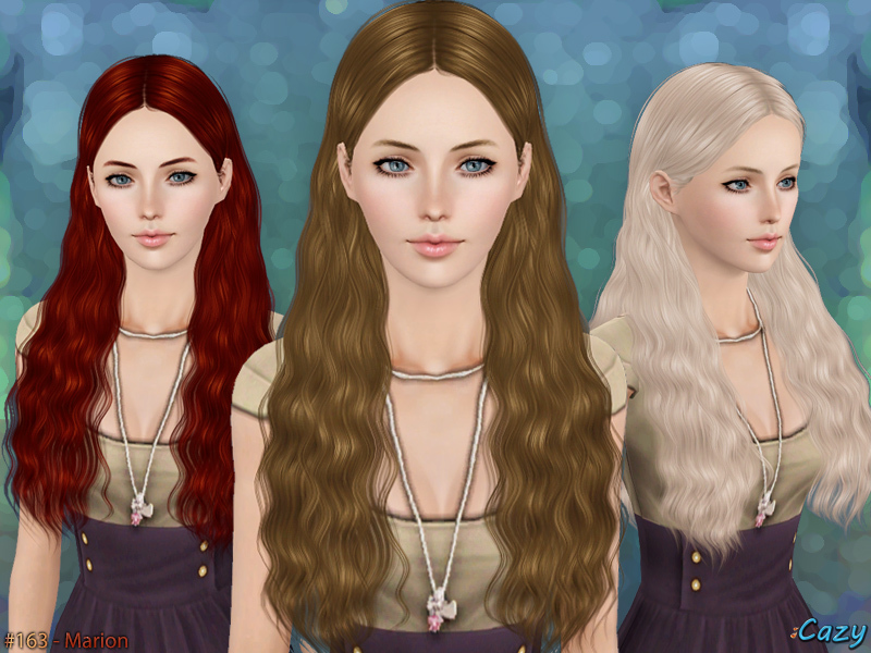 sims 3 hair styles cazy s marion hairstyle set 9859