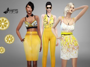 Sims 4 — MFS Yellow Mood Collection by MissFortune — As the red mood and the violet mood collections, this set is