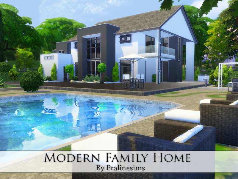 Pralinesims 39 modern family home for A family house
