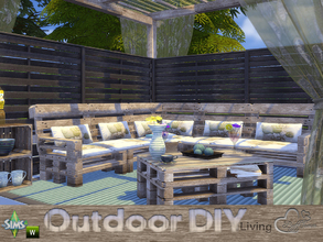 Sims 4 — DIY Outdoor Living by BuffSumm — The slogan of your Sim is: Do It Yourself! So your Sim took a lot of