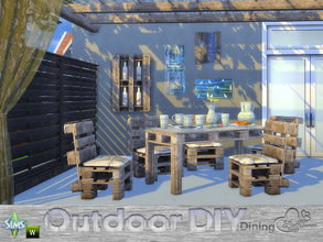 Sims 4 — DIY Outdoor Dining by BuffSumm — The slogan of your Sim is: Do It Yourself! So your Sim took a lot of