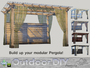 Sims 4 — DIY Modular Pergola by BuffSumm — The slogan of your Sim is: Do It Yourself! So your Sim took a lot of