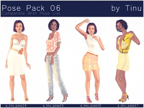 Sims 3 — Pose Pack 06 by Tinu by Tinuleaf — 4 Female Adult poses compatible with the pose list. You can find the