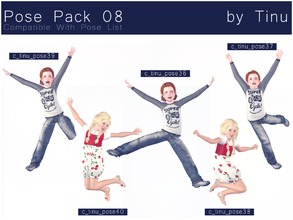 Sims 3 — Pose Pack 08 by Tinu by Tinuleaf — 8 Kids poses compatible with the pose list. You can find the individuals