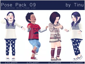 Sims 3 — Pose Pack 09 by Tinu by Tinuleaf — 8 Toddler poses compatible with the pose list. You can find the individuals