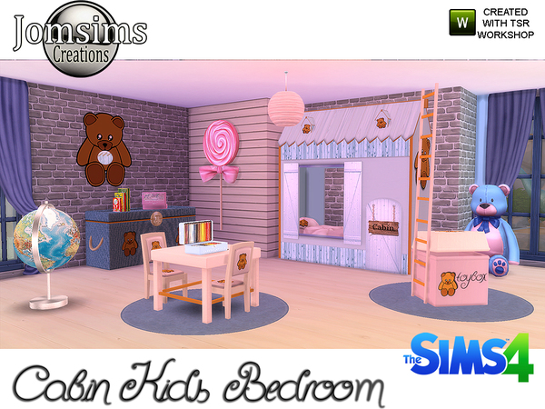 Jomsims 39 cabin kids bedroom for Sims 3 chambre bebe