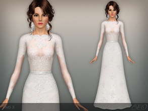 Sims 3 — Wedding dress 44 by BEO — Wedding dress presented in 1 variant. Recolorable 3 canals.