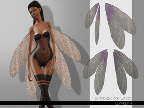 Sims 3 — LeahLilith Earthquake Wings by Leah_Lillith — Earthquake Wings recolorable avilable for males and females hope