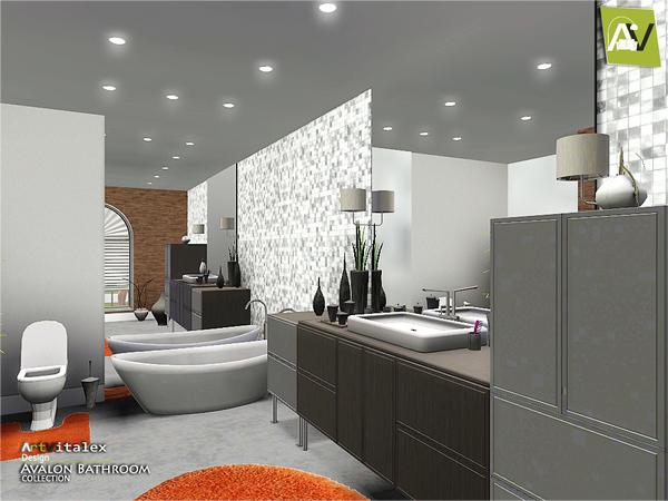 Artvitalex 39 s avalon bathroom for Bathroom ideas sims 4