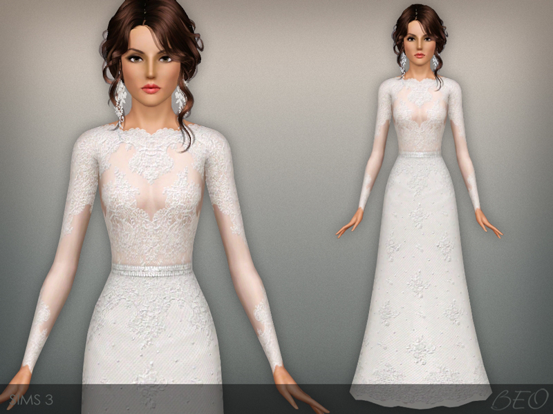 sims 3 clothing - 'wedding dress'