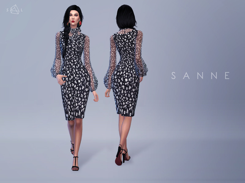 cb5837cf SLYD's Tie-neck Daisy-print Dress SANNE