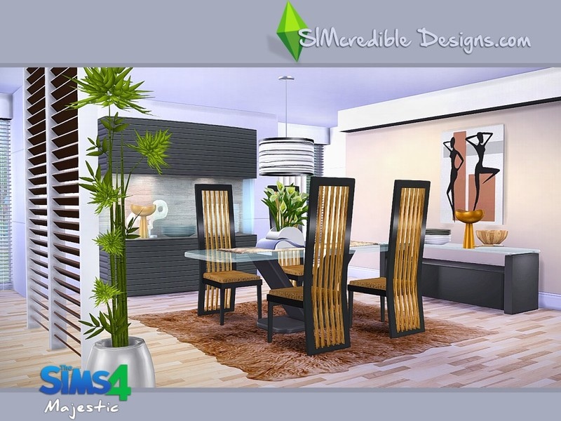 ... Simcredible 39 S Majestic For Sims 4 Dining Room Ideas ...