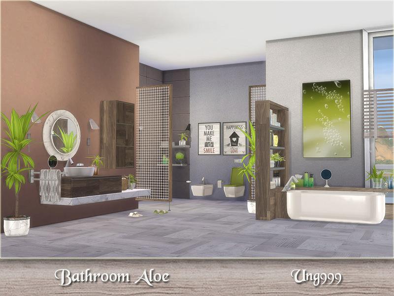 Ung999 39 s bathroom aloe for Bathroom ideas sims 4