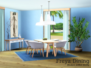 Sims 3 — Freya Dining by Angela — Freya Diningroom, converted to Sims 3 from my Sims4 set. This set contains a table,