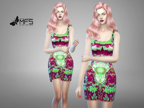 Sims 4 — MFS Catelyn Dress by MissFortune — Standalone, Hq texture, custom thumbnail, 5 colors.