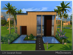 Sims 4 — 124 Savanah Road by MissDaydreams — Big modern house with 3 bedrooms, 3 bathrooms, artistic room and a swimming
