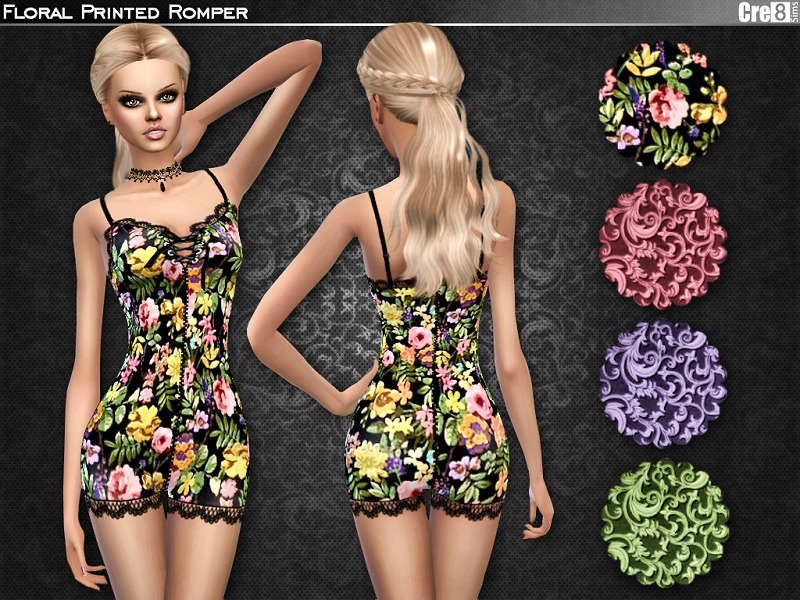 745be4814b97 Cre8Sims  Floral Romper