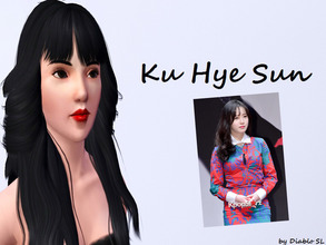 Sims 3 — Ku Hye Sun by Diablo_SL — A famous Korean Actress who is mostly known as Geum-Jan Di in Boys Over Flowers and as