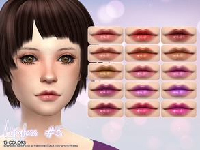 Sims 4 — Lipgloss #5 by Aveira — - 15 Colors - Standalone and Custom Thumbnail - All ages
