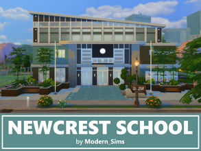 Sims 4 — Newcrest School noCC by Modern Sims by Modern_Sims — Stunning school inspired by The Sims 3! This school works