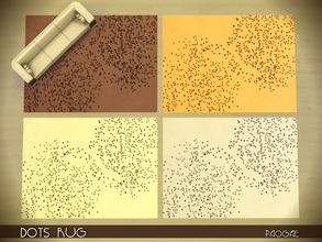 Sims 4 — DotsRug by Paogae — A modern rug with dots, in 4 warm colors. 4 in 1 file. Standalone.