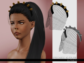 Sims 3 — LeahLilith Speechless Headband by Leah_Lillith — Speechless Headband 3 recolorable areas avilable for males and