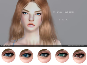 Sims 4 — H.O.A eye color SEA  by Syrenahoa — H.O.A eye color SEA with 5 colors. For male and female.