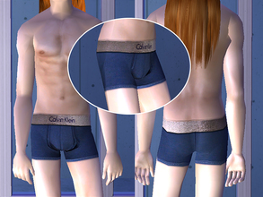 Sims 2 — Calvin Klein Underwear - Blue by CerseiL2 — They also can be used as Pj\'s. I hope you like it.