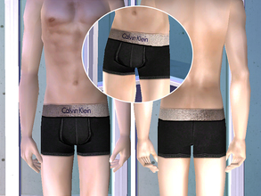 Sims 2 — Calvin Klein Underwear - Black by CerseiL2 — They also can be used as Pj\'s. I hope you like it.