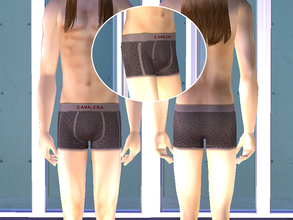 Sims 2 — Cavalera Underwear - Brown by CerseiL2 — They also can be used as Pj\'s. I hope you like it.