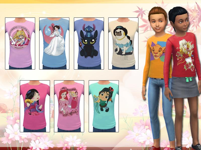 Lollaleeloo S Disney Long Sleeve Tees