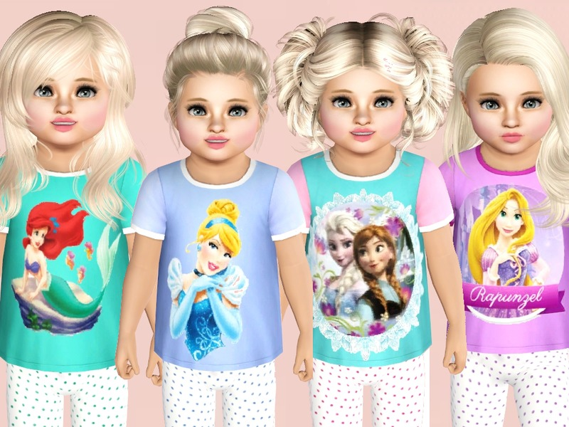 SweetDreamsZzzzz's Disney Princess Toddlers Tees
