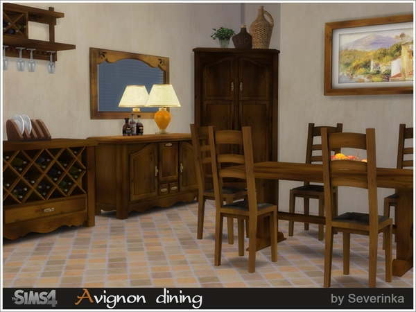 Severinka 39 s avignon dining for Dining room ideas sims 4