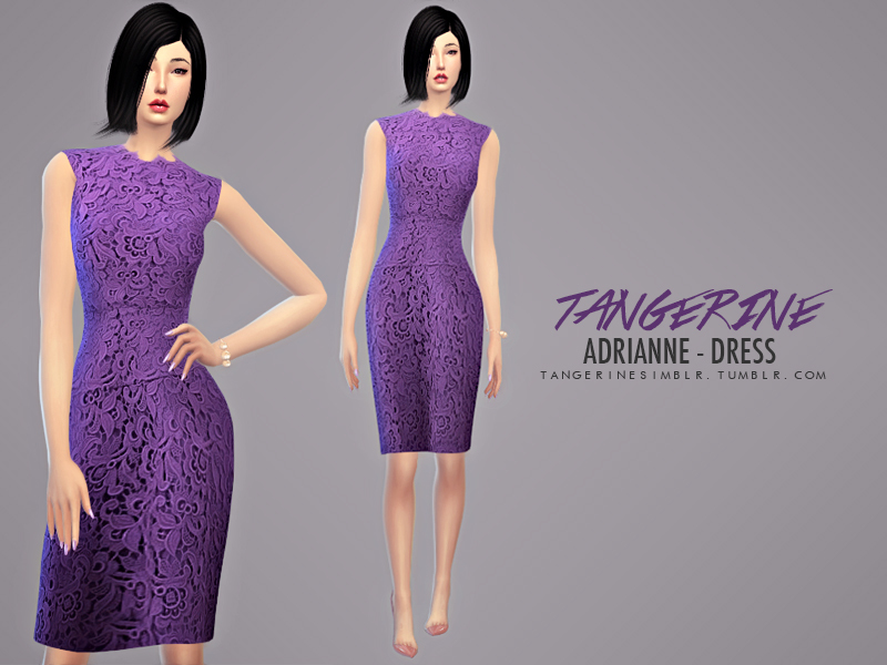 tangerinesimblr\'s Adrianne - Dress (Oscar de la Renta)