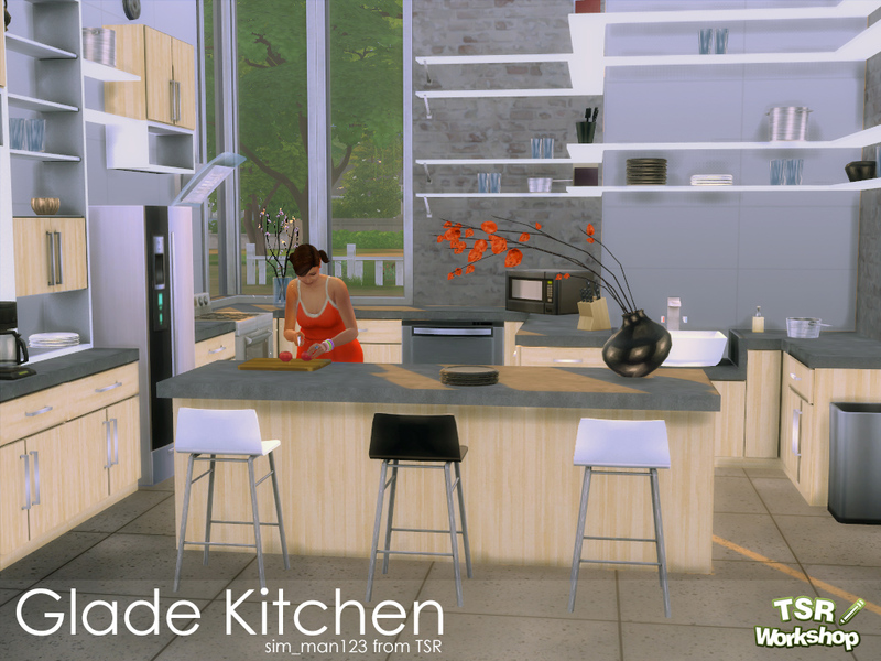 Sim man123 39 s glade kitchen for Sims 3 kitchen designs