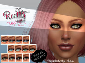 Sims 4 — Victorias Fortune Reality Contacts Collection by fortunecookie1 — Here are 12 new colored contacts for your