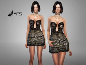 Sims 4 — MFS Calliope Dress by MissFortune — Standalone, Hq texture, Custom thumbnail, one color.