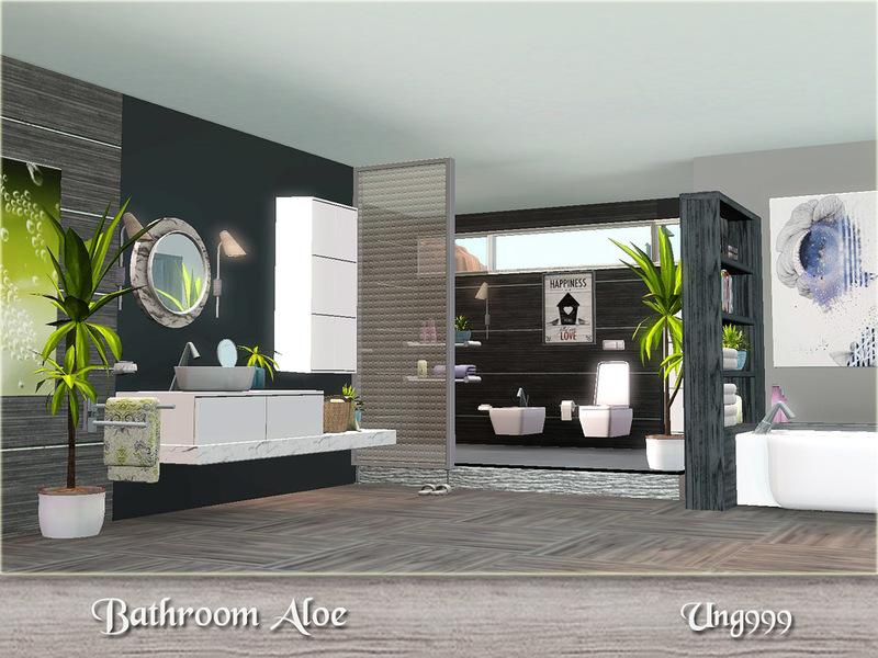 Ung999 39 s bathroom aloe for Bathroom ideas sims 3