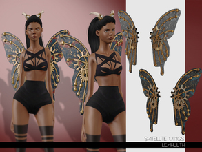 Sims 3 — LeahLilith Satellite Wings by Leah_Lillith — Satellite Wings 3 recolorable areas avilable for males and females