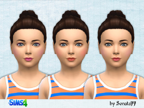 Sims 4 — S77 child makeup 01 by Sonata77 — Makeup for girls. It is located in the tab face paint. Includes eyeliner,