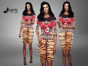 Sims 4 — MFS Christy Dress by MissFortune — Standalone, Hq texture, custom thumbnail, two colors.