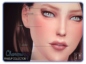 Sims 4 — [ Charming ] - Makup Collection by Screaming_Mustard — A nice and natural makeup set for everyday Sims. Add a