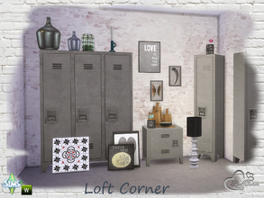 Sims 4 — Loft Corner by BuffSumm — Modern, Industrial, Loft... Just three words to describe this awesome furniture and