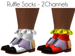 Sims 3 — SockRuffle by LoubelleSims — This sock come in two parts or you can pair the ruffle with any sock of your