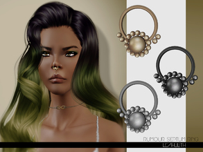Sims 3 — LeahLilith Rumour Septum Ring by Leah_Lillith — Rumour Septum Ring fully rocolorable hope you will enjoy^^