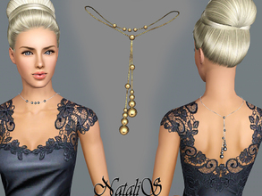 Sims 3 — NataliS TS3 Back drop metal beads necklace FT-FE by Natalis — Back drop necklace with metal beads - gorgeous