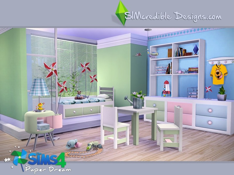 Sims  Toddler Wall Paper Room Cc