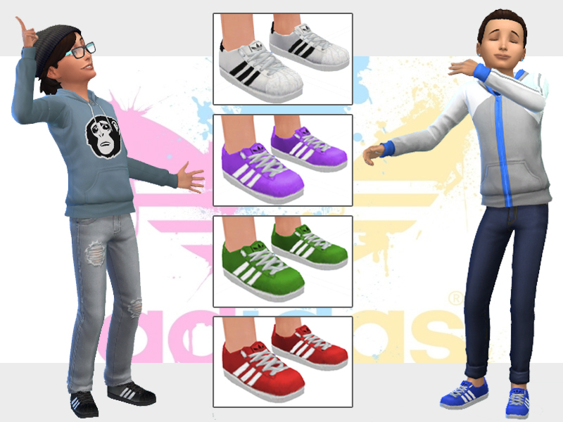 sims 4 adidas superstars cc